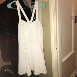 WHITE RIBBED DRESS
